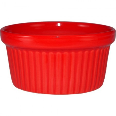 ITI RAMF-3-CR  3 oz. Cancun Crimson Red Fluted Ramekin - 3 doz