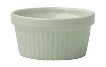 ITI RAMF-3-EW 3 oz. European White Fluted Ramekin - 3 doz