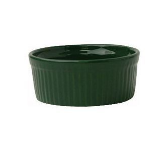 ITI RAMF-4-G 4 oz. Green Fluted Ramekin - 3 doz