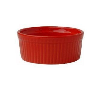 ITI RAMF-4-R 4 oz. Red Fluted Ramekin - 3 doz