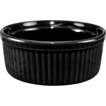 ITI RAMF-8-B 6 oz. Cancun Black Fluted Ramekin - 3 doz