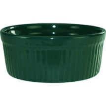 ITI RAMF-8-G 6 oz. Cancun Green Fluted Ramekin - 3 doz