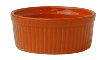 ITI RAMF-8-O 6 oz. Red Fluted Ramekin - 3 doz