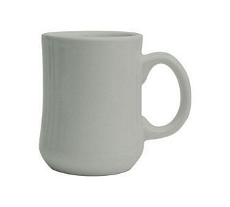ITI RM-P-EW 8 oz. European White Vitrified Princess Mug - 3 doz