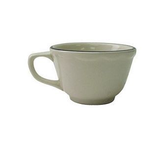 ITI SY-35 3-1/2 oz. American White With Black Band Scalloped Edge A.D Cup - 3 doz