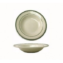 ITI VE-125 28 oz. American White With Green Band Pasta Bowl - 1 doz