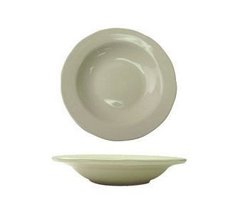 ITI VI-105 18 oz. American White Scalloped Edge Pasta Bowl - 1 doz