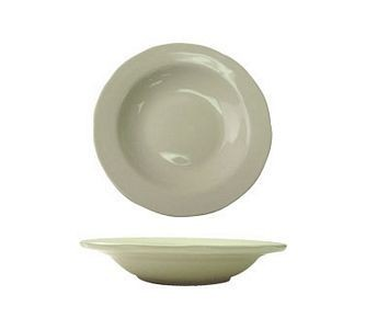 ITI VI-115 22 oz. American White Scalloped Edge Pasta Bowl - 1 doz