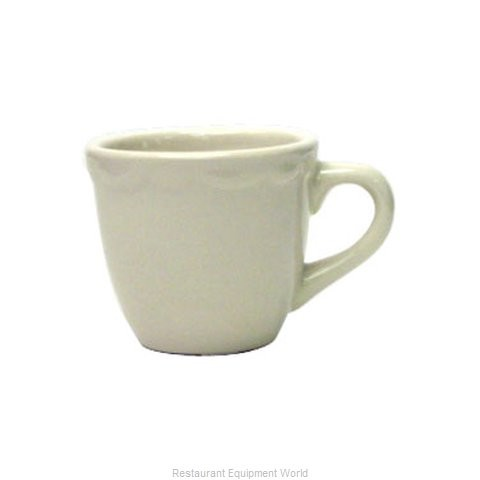 ITI International Tableware VI-35 Victoria American White A.D.Cup 3-1/2 oz. - 3 doz