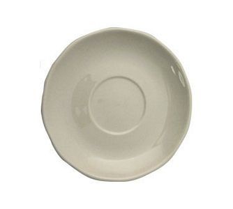 "ITI VI-36 4-7/8"" American White Scalloped Edge A.D Saucer - 3 doz"