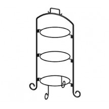 ITI WR-103 9\  Three-Tier Round Black Iron Plate Stand  sc 1 st  TigerChef : black plate stand - pezcame.com