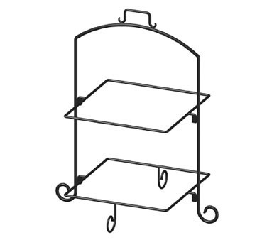ITI WR-132 13 Two-Tier Square Black Iron Plate Stand  sc 1 st  TigerChef : 2 tier plate stand - pezcame.com