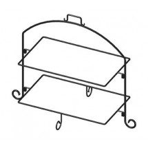 sc 1 st  TigerChef & Cal-Mil 1406-15 2 -Tier Display and Server Stand With 3 White Trays