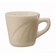 ITI Y-1 7 oz. American White Embossed Tall Cup - 1 doz