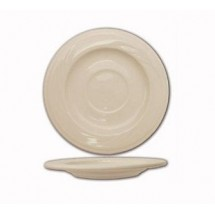 "ITI Y-2 5-3/4"" American White Embossed Saucer - 3 doz"