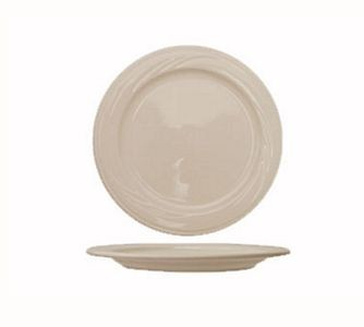 "ITI Y-21 11-3/4"" American White Embossed Plate - 1 doz"