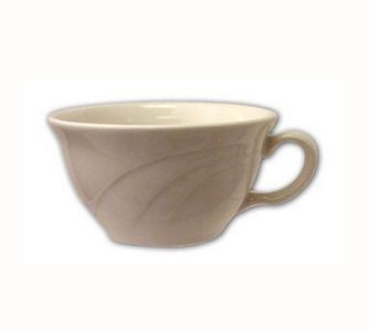 ITI Y-23 7 oz. American White Embossed Low Tea Cup - 1 doz