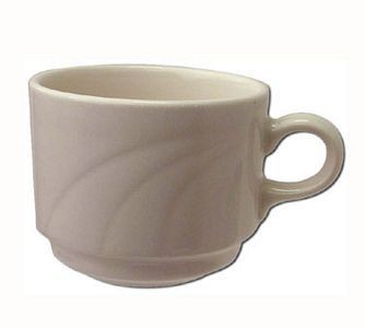 ITI Y-38 8-1/2 oz.American White Embossed Stackable Cup - 3 doz
