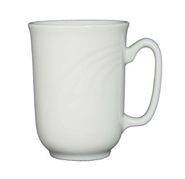 ITI Y-70 9 oz. American White Embossed Lisa Mug - 2 doz