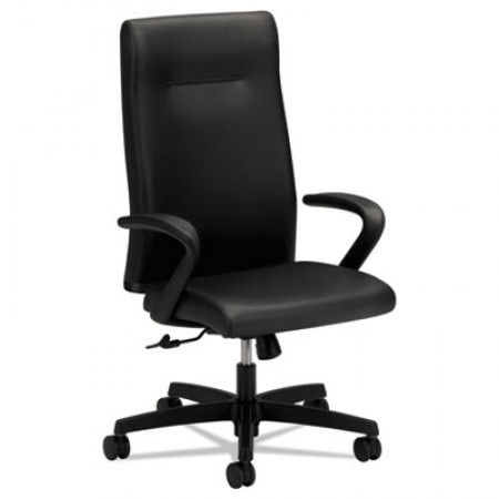 Ignition Series Executive High-Back Chair, Supports up to 300 lbs., Black Seat/Black Back, Black Base