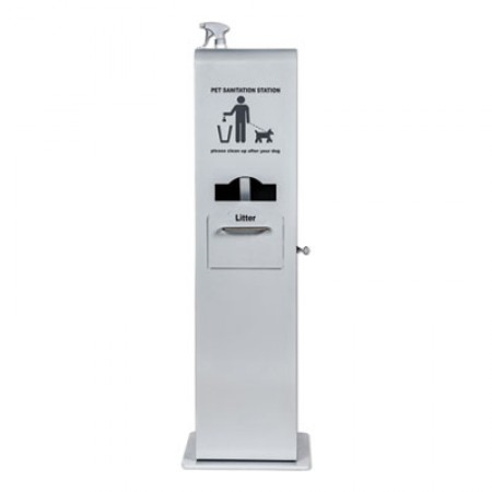 Poopy Pouch Indoor Pet Sanitation Station, Silver Metallic