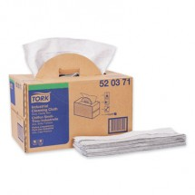 Tork Industrial Cleaning Cloths, Handy Box, 1-Ply, Gray, 280 Cloths