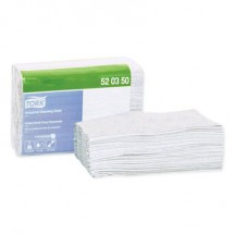 """Tork Industrial Cleaning Cloths, 1-Ply, Gray, 12.6"""" x 15.16"""", 440 Cloths/Carton"""