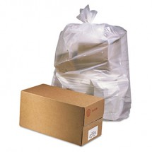 """Industrial Drum Liners, Rolls, 60 gal, 2.5 mil, 38"""" x 65"""", Clear, 50/Carton"""