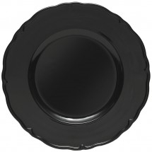 The Jay Companies A215BK Round Black Regency Charger Plate 13""