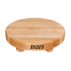 "John Boos B12R Round Maple Cutting Board 12"" Dia. x 1-1/2"""