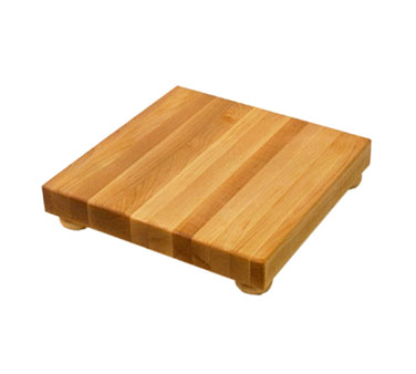 "John Boos B12S-3 Square Maple Cutting Board with Feet 12""x 12"" x 1-1/2"""