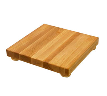 "John Boos B9S Square Maple Cutting Board with Legs 9""x 9"" x 1-1/2"""