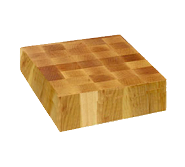 "John Boos CCB121203 Chinese Chopping Block with Grips 12"" x 12"" x 3"""