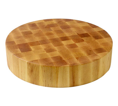 John Boos CCB18-R Round Maple Chinese Chopping Block 18""