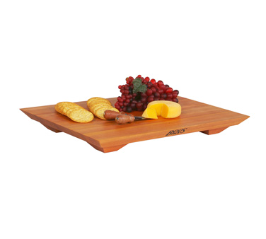"John Boos CHY-FB201501 Cherry Wood Fusion Cutting Board with Feet 20"" x 15"" x 1"""