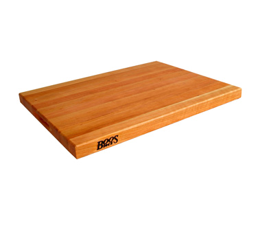 "John Boos CHY-R01 Cherry Wood Reversible Cutting Board 18"" x 12"" x 1-1/2"""