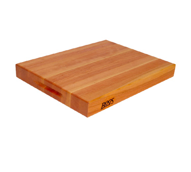 "John Boos CHY-RA02 Reversible Cherry Wood Cutting Board with Boos block Cream Finish 15"" x 20"" x 2-1/4"""