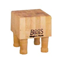 "John Boos MCB1 Mini Hard Maple Cheese Block, 4 Wooden Feet 6"" x 6"""