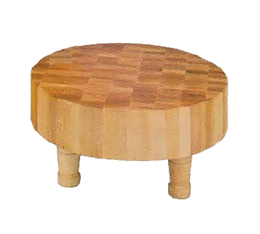 John Boos MCR1 Round Maple Mini Chopping Block with 4 Feet 12""