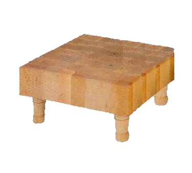 "John Boos MCS1 Maple Chopping Block with 4 Wooden Feet 12"" x 12"" x 3"""