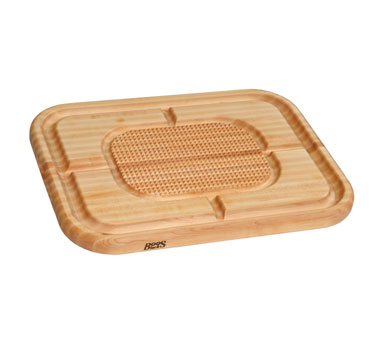 "John Boos MN2418150-SM Carving Collection Board with Grooves, Grips and Pan,18"" x 24"" x 1-1/2"""