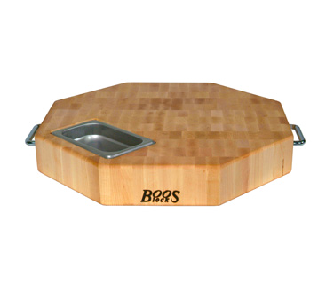 John Boos OCB-18P Gift Collection Octagonal Maple Cutting Board with Handles 18""