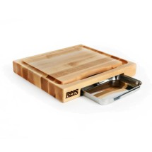 """John Boos PM18180225-P Maple Cutting Board Gift Collection with Pan 18"""" x 18"""" x 2-1/4"""""""