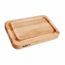 """John Boos RAD03-GRV-S Maple Cutting Board with Groove, Pour Spout 24"""" x 18"""""""