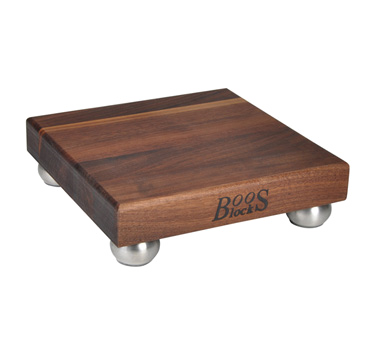 "John Boos WAL-9SS-3 Gift Collection Square Cutting Board with Feet 9"" x 9"""
