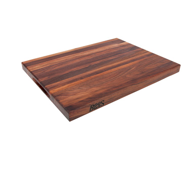 "John Boos WAL-R01 Walnut Reversible Cutting Board 18"" x 12"""