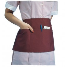 "Johnson Rose 30950 Triple Pocket Waist Apron, White 23"" x 11"""