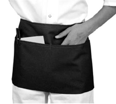 "Johnson Rose 30951 Triple Pocket Waist Apron, Black 23"" x 11"""
