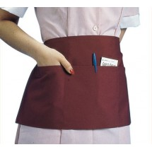 "Johnson Rose 30954 Triple Pocket Waist Apron, Burgundy 23"" x 11"""
