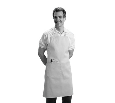 Johnson Rose 30988 Poly/Cotton Side Pocket Bib Apron, Navy Blue
